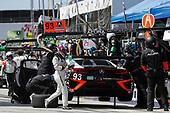 2017 IMSA WeatherTech SportsCar Championship<br /> BUBBA burger Sports Car Grand Prix at Long Beach<br /> Streets of Long Beach, CA USA<br /> Saturday 8 April 2017<br /> 93, Acura, Acura NSX, GTD, Andy Lally, Katherine Legge, pit stop<br /> World Copyright: Michael L. Levitt<br /> LAT Images<br /> ref: Digital Image levitt-0417-lbgp_08233