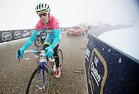 2013 Giro d'Italia.stage 20: Silandro - Tre Cime di Lavaredo..Vincenzo Nibali (ITA) on his way to winning the stage towards Tre Cime di Lavaredo (2304m).
