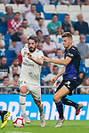 Isco Alarcon (L) of Real Madrid fights for the ball with Gerard Gumbau Garriga of CD Leganes during the La Liga 2018-19 match between Real Madrid and CD Leganes at Estadio Santiago Bernabeu on September 01 2018 in Madrid, Spain. Photo by Diego Souto / Power Sport Images