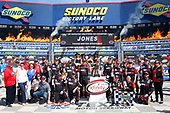 2017 NASCAR Xfinity Series<br /> My Bariatric Solutions 300<br /> Texas Motor Speedway, Fort Worth, TX USA<br /> Saturday 8 April 2017<br /> Erik Jones, Game Stop/ GAEMS Toyota Camry celebrates his victory<br /> World Copyright: Lesley Ann Miller/LAT Images<br /> ref: Digital Image lam_170408TX29577