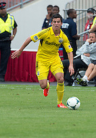 July 20, 2013: Columbus Crew midfielder Bernardo Anor #7 in action during a game between Toronto FC and the Columbus Crew at BMO Field in Toronto, Ontario Canada.<br /> Toronto FC won 2-1.