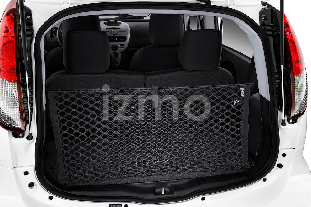 Rear cargo and trunk area of a 2012 Mitsubishi MiEV ES