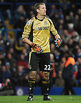 Jussi Jaaskelainene of West Ham in action during the Barclays Premiere League match between Chelsea and West Ham United at Stamford Bridge on Sunday March 17, 2013 in London, England Picture Zed Jameson/pixel 8000 ltd.