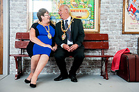 Thursday  21 July 2016<br /> Pictured: Mayor David Hopkins (R).<br />  Re: A teddy bears picnic takes place at Swansea Waterfront Museum to celebrate 10 years of Flying Start