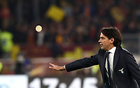 Football, Serie A: AS Roma - S.S. Lazio, Olympic stadium, Rome, January 26, 2020. <br /> Lazio's coach Simone Inzaghi speaks to his players during the Italian Serie A football match between Roma and Lazio at Olympic stadium in Rome, on January,  26, 2020. <br /> UPDATE IMAGES PRESS/Isabella Bonotto