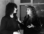 Stevie Nicks 1981 with JAbb Wilson at backstage at Heart show at Whisky in Hollywood.