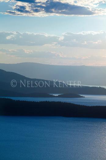 Islands in Flathead Lake in western Montana