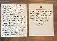 BNPS.co.uk (01202) 558833. <br /> Pic: DavidLay/BNPS<br /> <br /> Pictured: The letter dated October 26th 1993. <br /> <br /> Letters from Princess Diana that reveal the depth of feeling she had for her closest friends who helped her through separation from Charles have come to light.<br /> <br /> One of her most important friendships at the time of her marriage break up was with Lucia Flecha di Lima, the wife of the Brazilian ambassador to the UK.<br /> <br /> In a letter written in April 1991 Diana described her new friend as 'a wonderful lady with such depth' who had already had a 'huge impact' in her life. <br /> <br /> A second letter described the champagne lunches they used to enjoy and a third references the historic moment of William's first investiture aged 11.
