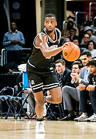 WASHINGTON, DC - FEBRUARY 19: Alpha Diallo #11 of Providence charges up court during a game between Providence and Georgetown at Capital One Arena on February 19, 2020 in Washington, DC.
