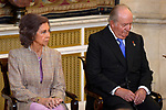 King Juan Carlos and Queen Sofia attend the Order of Golden Fleece (Toison de Oro), ceremony at the Royal Palace. January 30,2018. (ALTERPHOTOS/Pool)