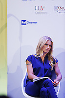 Michelle Hunziker attends a press conference on the movie 'Ancora un'Altra Storia' during the 72nd Venice Film Festival at the Palazzo Del Cinema in Venice, Italy, September 7, 2015.<br /> UPDATE IMAGES PRESS/Stephen Richie