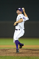 Winston-Salem Dash relief pitcher Mike Morrison (11) in action against the Frederick Keys at BB&T Ballpark on July 26, 2018 in Winston-Salem, North Carolina. The Keys defeated the Dash 6-1. (Brian Westerholt/Four Seam Images)