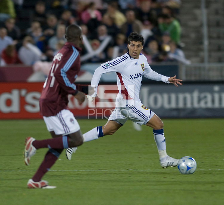 Real Salt Lake midfielder Javier Morales. Real Salt Lake earned a tied versus the Colorado Rapids securing a place in the postseason. Dick's Sporting Goods Park, Denver, Colorado, October, 25, 2008. Photo by Trent Davol/isiphotos.com