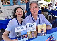 Valerie BOCHENEK et Jean-Louis DEBRE lors de la 22eme edition du Festival du Livre de Nice, Sud de la France, dimanche 4 juin 2017. Philippe FARJON / VISUAL Press Agency