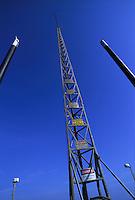 Fisheye view mast of recording vessel. Louisiana, Lake Salvador.