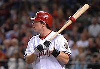 Apr 9, 2007; Phoenix, AZ, USA; Arizona Diamondbacks shortstop (6) Stephen Drew against the Cincinnati Reds during the home opener at Chase Field in Phoenix, AZ. Mandatory Credit: Mark J. Rebilas