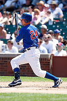 August 9, 2009:  First Baseman Micah Hoffpauir of the Iowa Cubs during a game at Wrigley Field in Chicago, IL.  Iowa is the Pacific Coast League Triple-A affiliate of the Chicago Cubs.  Photo By Mike Janes/Four Seam Images