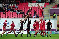 David Bulbring of Scarlets in action during the Guinness Pro14 Round 5 match between Scarlets and Isuzu Southern Kings at the Parc Y Scarlets in Llanelli, Wales, UK. Saturday 29 September 2018