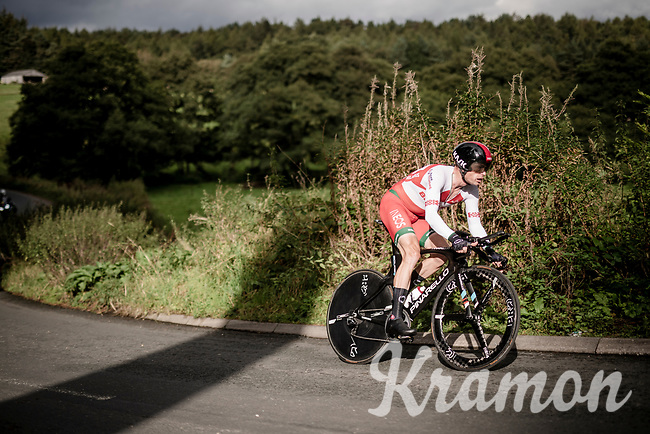 Vasil Kiryienka (BLR/Ineos)<br /> Elite Men Individual Time Trial<br /> from Northhallerton to Harrogate (54km)<br /> <br /> 2019 Road World Championships Yorkshire (GBR)<br /> <br /> ©kramon