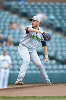 Lynchburg Hillcats starting pitcher Adam Scott (33) in action against the Winston-Salem Dash at BB&T Ballpark on May 9, 2019 in Winston-Salem, North Carolina. The Dash defeated the Hillcats 4-1. (Brian Westerholt/Four Seam Images)