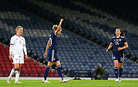 21st September 2021; Hampden Park, Glasgow, Scotland: FIFA Womens World Cup qualifying, Scotland versus Faroe Islands; Martha Thomas of Scotland celebrates after she makes it 5-1 in the 61st minute