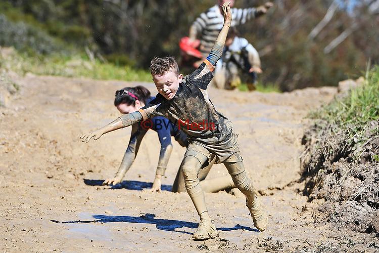 Harbour Sport Mud Monster Mud Rush, Massey University Albany Campus, Auckland, New Zealand. Saturday 8 September 2018, photo: Marc Shannon/www.bwmedia.co.nz
