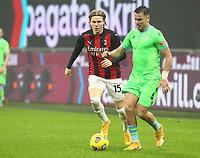 Milano  23-12-2020<br /> Stadio Giuseppe Meazza<br /> Campionato Serie A Tim 2020/21<br /> Milan Lazio<br /> nella foto: Hauge                                                          <br /> Antonio Saia