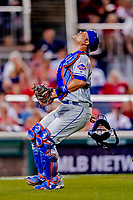 21 September 2018: New York Mets catcher Devin Mesoraco in action against the Washington Nationals at Nationals Park in Washington, DC. Mesoraco went 3 for 3 at the plate as the Mets defeated the Nationals 4-2 in the second game of their 4-game series. Mandatory Credit: Ed Wolfstein Photo *** RAW (NEF) Image File Available ***