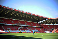 24th April 2021; The Valley, London, England; English Football League One Football, Charlton Athletic versus Peterborough United; Charltons goalkeepers warm up in the sunshine ahead of the game