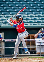 6 June 2021: Binghamton Rumble Ponies infielder Manny Rodriguez in action against the New Hampshire Fisher Cats at Northeast Delta Dental Stadium in Manchester, NH. The Rumble Ponies defeated the Fisher Cats 9-6 to close out their 6-game series. Mandatory Credit: Ed Wolfstein Photo *** RAW (NEF) Image File Available ***