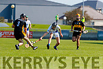 Brendan McMahon, Dr. Crokes in action against Cathal Dunne, Tralee Parnells during the Kerry County Intermediate Hurling Championship Final match between Dr Crokes and Tralee Parnell's at Austin Stack Park in Tralee
