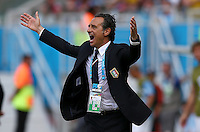 Italy coach Cesare Prandelli reacts on the touchline