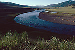Yellowstone River, Montana, Wyoming border, high mountain valley, Yellowstone National Park, United States, summer,