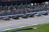 #20: Christopher Bell, Joe Gibbs Racing, Toyota Supra Rheem-Johns Mansville leads
