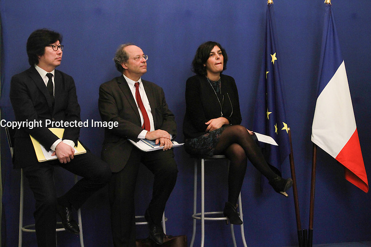 Jean-vincent PlacÈ,Myriam El Khomri - Clarification sur le bulletin de salaire - Paris, France - 20/02/2017