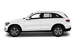 Car driver side profile view of a 2020 Mercedes Benz GLC-Class GLC300 5 Door SUV