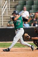 Augusta designated hitter Brett Pill (9) follows through on his swing versus Kannapolis at Fieldcrest Cannon Stadium in Kannapolis, NC, Monday, September 3, 2007.