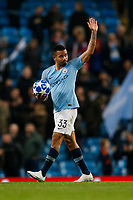 Gabriel Jesus of Manchester City celebrates with the match ball after the UEFA Champions League Group F match between Manchester City and Shakhtar Donetsk at the Etihad Stadium on November 7th 2018 in Manchester, England. (Photo by Daniel Chesterton/phcimages.com)<br /> Foto PHC/Insidefoto <br /> ITALY ONLY
