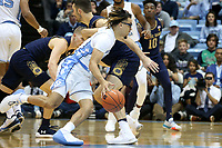 CHAPEL HILL, NC - NOVEMBER 06: Cole Anthony #2 of the University of North Carolina drives with the ball during a game between Notre Dame and North Carolina at Dean E. Smith Center on November 06, 2019 in Chapel Hill, North Carolina.