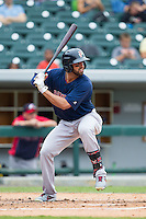 Deven Marrero (29) of the Pawtucket Red Sox at bat against the Charlotte Knights at BB&T Ballpark on August 10, 2014 in Charlotte, North Carolina.  The Red Sox defeated the Knights  6-4.  (Brian Westerholt/Four Seam Images)