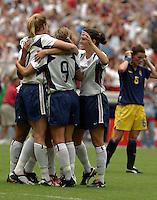 USA Women's celebration, 2003 WWC USA Sweden.