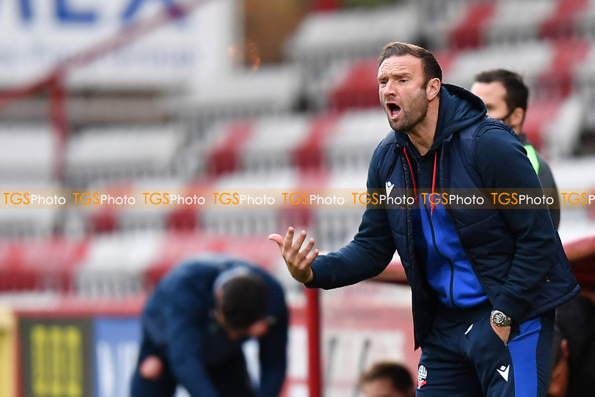 Bolton Wanderers F.C. Manager Ian Evatt during Stevenage vs Bolton Wanderers, Sky Bet EFL League 2 Football at the Lamex Stadium on 21st November 2020