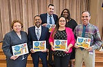 Houston ISD high school honorees pose for a photograph at Children at Risk awards presentation to area schools at Pilgrim Academy, June 6, 2016.