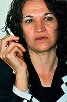 Sarajevo BIH.Esmia Kundor, 40, Association 'Women Victims of War' (Zena Zrtva Rata) in Sarajevo..Since 2003, the organization works with International Tribunal in The Hague and denounces the crimes against women committed during the war from 1992 to 1995 do not go unpunished..Photo Livio Senigalliesi.