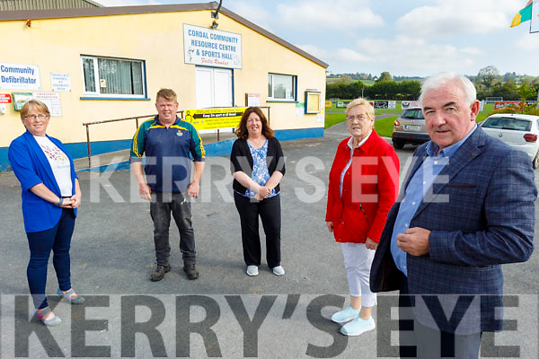 Cordal Community Resource Centre received €2,000 in Community enhancement funding. Front right: Charlie Farrelly (Chairman). Back l to r:  Martina O'Donoghue (Secretary), George O'Connor, Noreen Enright and Siobhan Kearney (Treasurer).