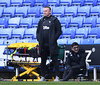 5th April 2021; Madejski Stadium, Reading, Berkshire, England; English Football League Championship Football, Reading versus Derby County; Wayne Rooney Manager of Derby County