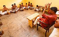 Asia, India,Kerala, Cheruthuruthy, Kalamandalam dance school founded by the poet Padmabhooshan Vallathol Narayana Menon, drum school