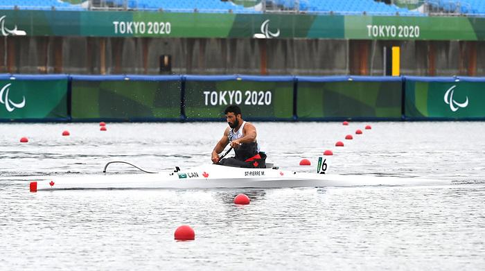 Mathieu St-Pierre, Tokyo 2020 - Para Canoe // Paracanoë.<br /> Mathieu St-Pierre competes in the men's VLS 200m sprint canoe // Mathieu St-Pierre participe au kayak simple féminin VLS 200m. 09/03/2021.