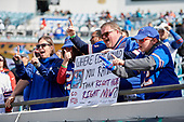 Buffalo Bills fans cheering before an NFL Wild-Card football game against the Jacksonville Jaguars, Sunday, January 7, 2018, in Jacksonville, Fla.  (Mike Janes Photography)