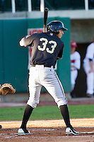 Rudy Flores (33) of the Missoula Osprey at bat against the Orem Owlz at Brent Brown Ballpark on July 23, 2012 in Orem, Utah.  The Owlz defeated the Osprey 6-1.  (Brian Westerholt/Four Seam Images)